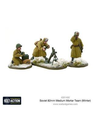 Bolt Action Soviet 82mm medium mortar team (Winter)
