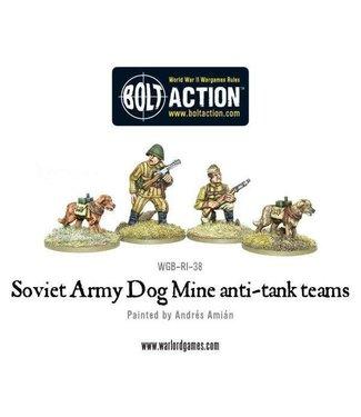 Bolt Action Soviet Army Dog Mine anti-tank teams