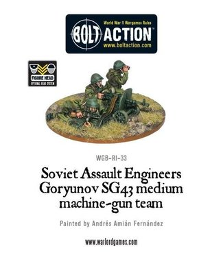 Bolt Action Soviet Assault Engineers SG43 MMG team