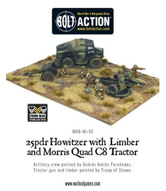 Bolt Action Quad C8 Tractor and British 25 pdr Howitzer & Limber