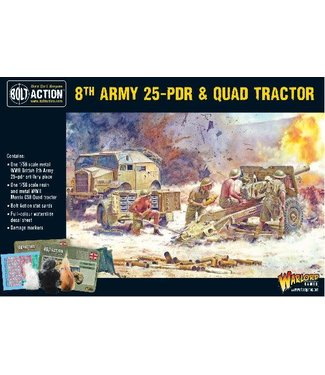 Bolt Action 8th army 25 pdr & Quad tracktor