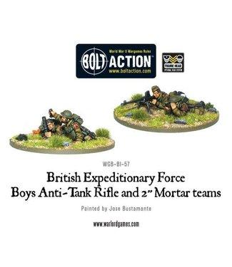 "Bolt Action BEF anti-tank rifle and 2"" light mortar teams"