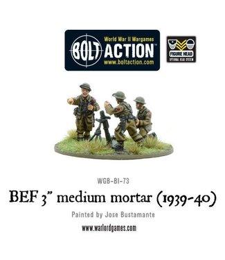 """Bolt Action BEF 3"""" medium mortar (1939-40)"""