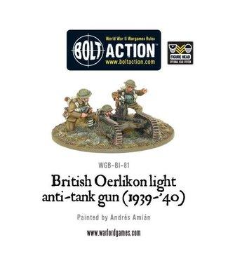 Bolt Action British Oerlikon light anti-tank gun (1939-40)