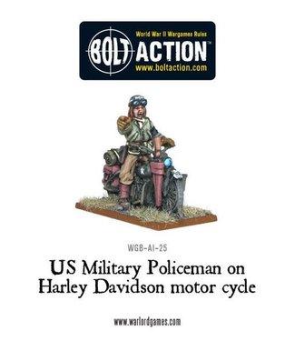 Bolt Action US Military Policeman on Harley Davidson motor cycle