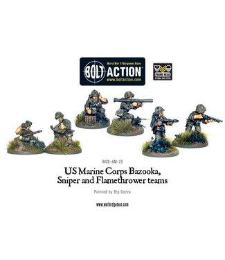 Bolt Action USMC Bazooka, Sniper and Flamethrower teams