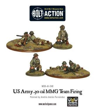 Bolt Action US Army 30 Cal MMG team firing