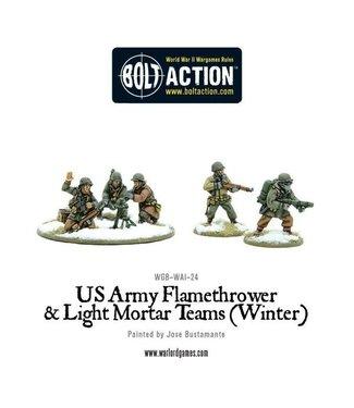 Bolt Action US Army Flamethrower & Light Mortar teams (Winter)