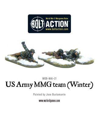 Bolt Action US Army MMG team (Winter) - Prone