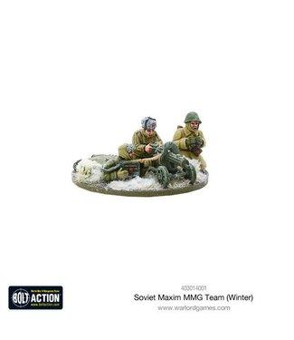 Bolt Action Soviet Maxim MMG team (Winter)