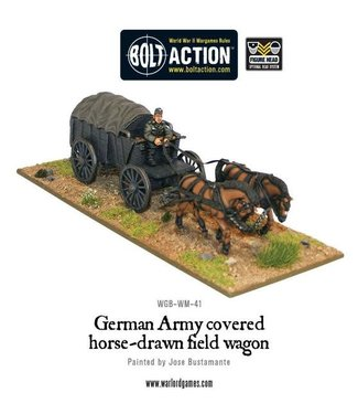 Bolt Action German Army Hf2 horsedrawn covered field wagon