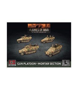 Flames of War Gun Platoon / Mortar Section (x4 Plastic)