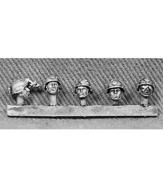 Empress Miniatures US Rangers Heads with 'Mich' Helmets (RAN10)
