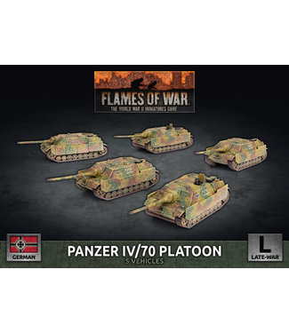 Flames of War Panzer IV/70 Platoon (Plastic)