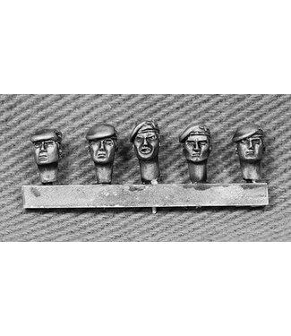 Empress Miniatures British Para Heads with Berets (BRIT11)