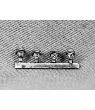 Empress Miniatures British Heads with Assualt Helmet (BAOR12)
