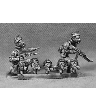 Empress Miniatures Russian Heads with Gas-Masks (RUS10)