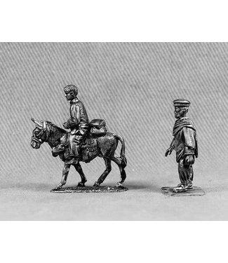 Empress Miniatures Afghan Civilians with Donkey (AFGCIV2)