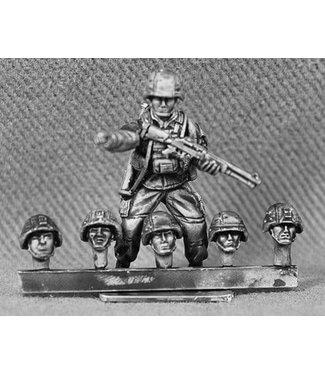 Empress Miniatures US Marines Heads with K-Pot Helmets (USMC12)