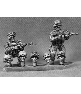 Empress Miniatures US Marines Heads with K-Pot Helmets and Goggles (USMC14)