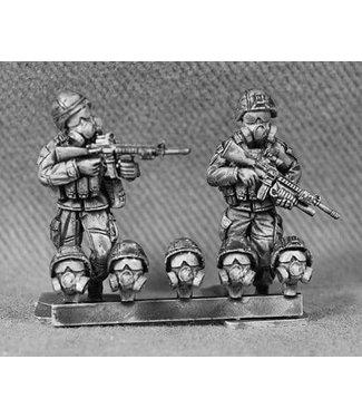 Empress Miniatures US Marines Heads with K-Pot Helmets with Gas Masks (USMC16)