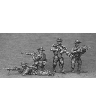Empress Miniatures US Marines with Boonie Hats Support Weapons (USMC4B)