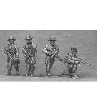 Empress Miniatures US Marines Command with Boonie Hats (USMC5B)