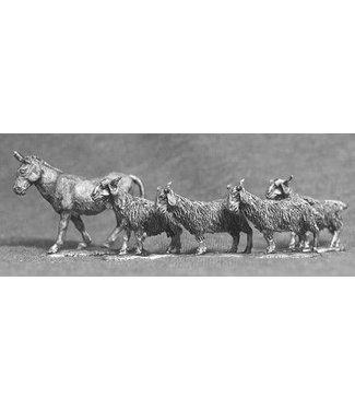 Empress Miniatures Goats and Donkey (AN01)