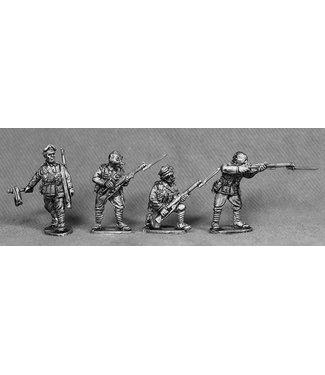 Empress Miniatures BEF Riflemen with Gas Masks Firing (BEF12)