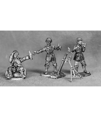 Empress Miniatures Italian Army Mortar Team with helmets (LIT09)