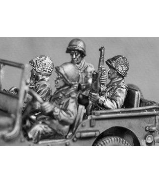 Empress Miniatures US Army Jeep Crew (GI11)