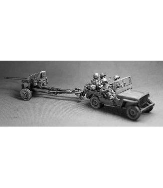 Empress Miniatures US Army Jeep with Anti-Tank Gun (JEEP3)