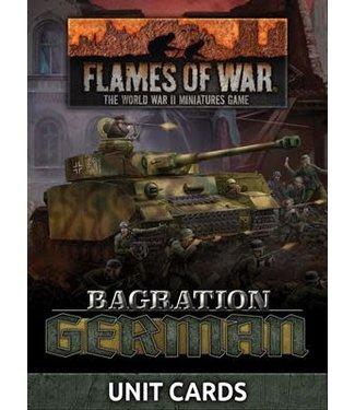 Flames of War Bagration: German Unit Cards (70x)