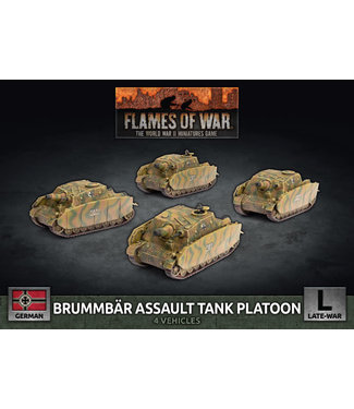 Flames of War Brummbar Assault Tank Platoon