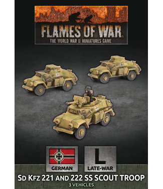 Flames of War Sd Kfz 221 and 222 SS Scout Troop