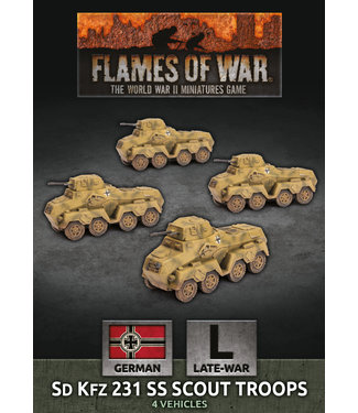 Flames of War Sd Kfz 231 SS Scout Troops