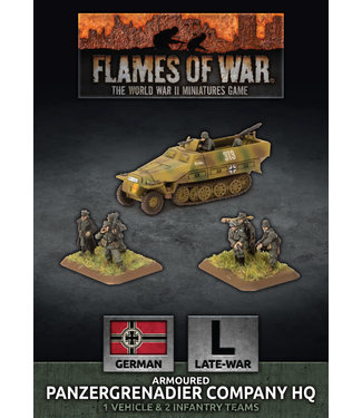 Flames of War Armoured Panzergrenadier Company HQ (plastic)