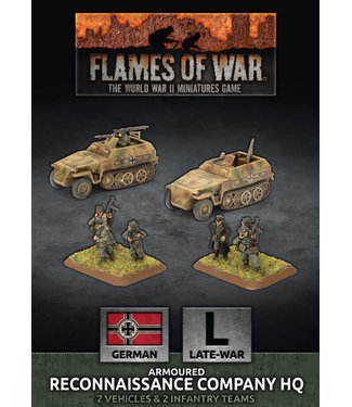 Flames of War Armoured Reconnaissance Company HQ (Plastic)
