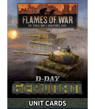 Flames of War D-Day: Germans Unit Cards