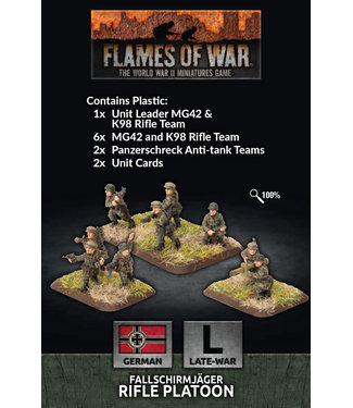 Flames of War Fallschirmjager Rifle Platoon (plastic)