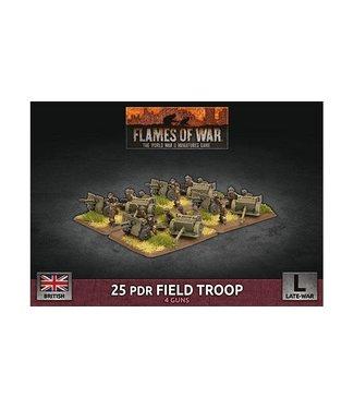 Flames of War 25 pdr Field Troop (Plastic)