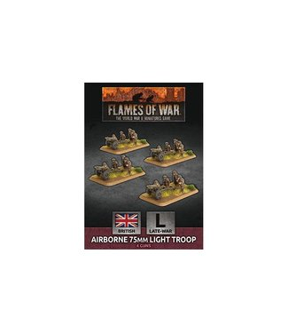 Flames of War Airborne 75mm Light Troop (Plastic)