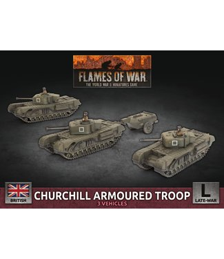 Flames of War Churchill Armoured Troop (Plastic)