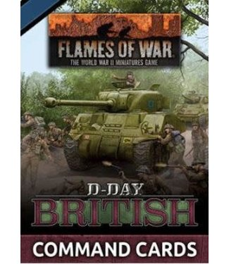 Flames of War D-Day: British Command Cards
