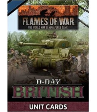 Flames of War D-Day: British Unit Cards