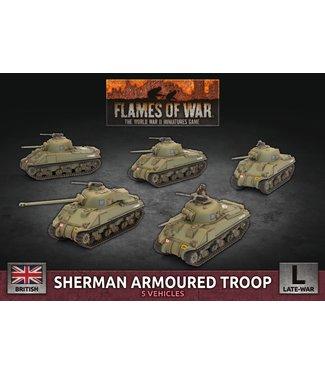 Flames of War Sherman Armoured Troop (Plastic)