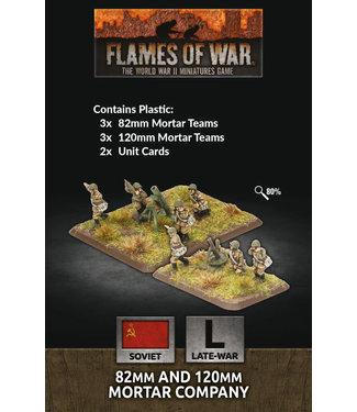 Flames of War 82mm And 120mm Mortar Company (Plastic)