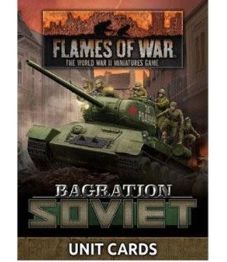 Flames of War Bagration: Soviet Unit Cards
