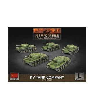 Flames of War KV Tank Company (Plastic)