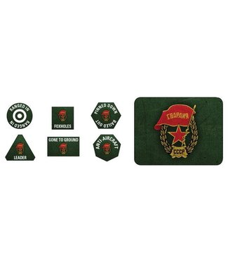 Flames of War Soviet Guards Tokens (x20) and Objectives (x2)